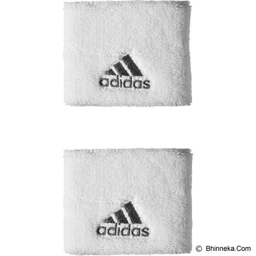 ADIDAS Tennis Wristbands Small [S21998] - White/Black/Black - Pelindung Pergelangan Tangan / Wrist Support